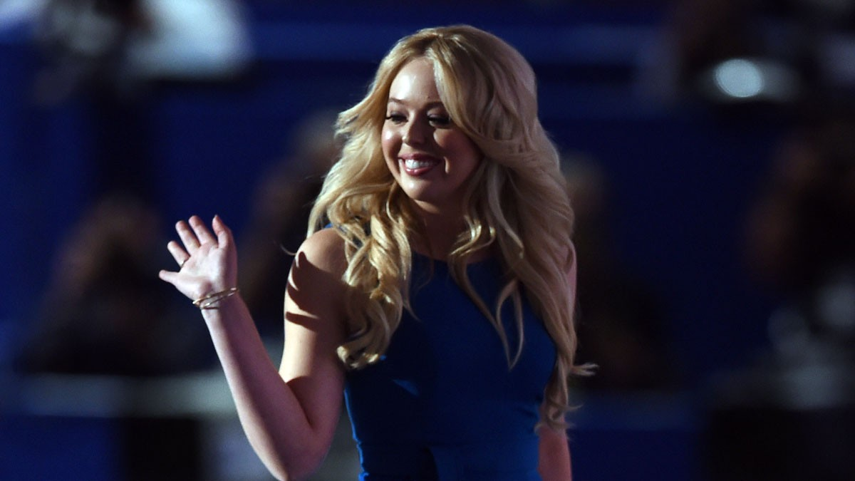 Tiffany Trump steps from the podium after addressing the Republican National Convention in July in Cleveland, Ohio.