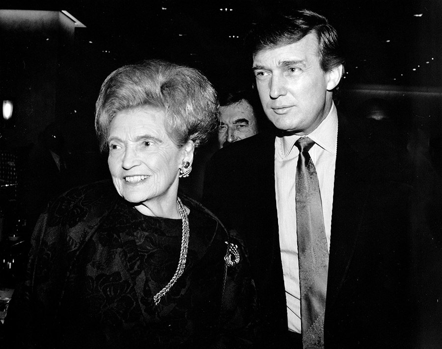 Donald Trump with his mother