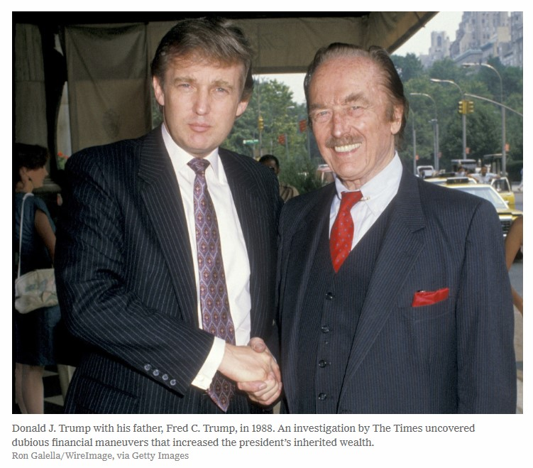 Donald J.Trump with his father, Fred C.Trump in 1988