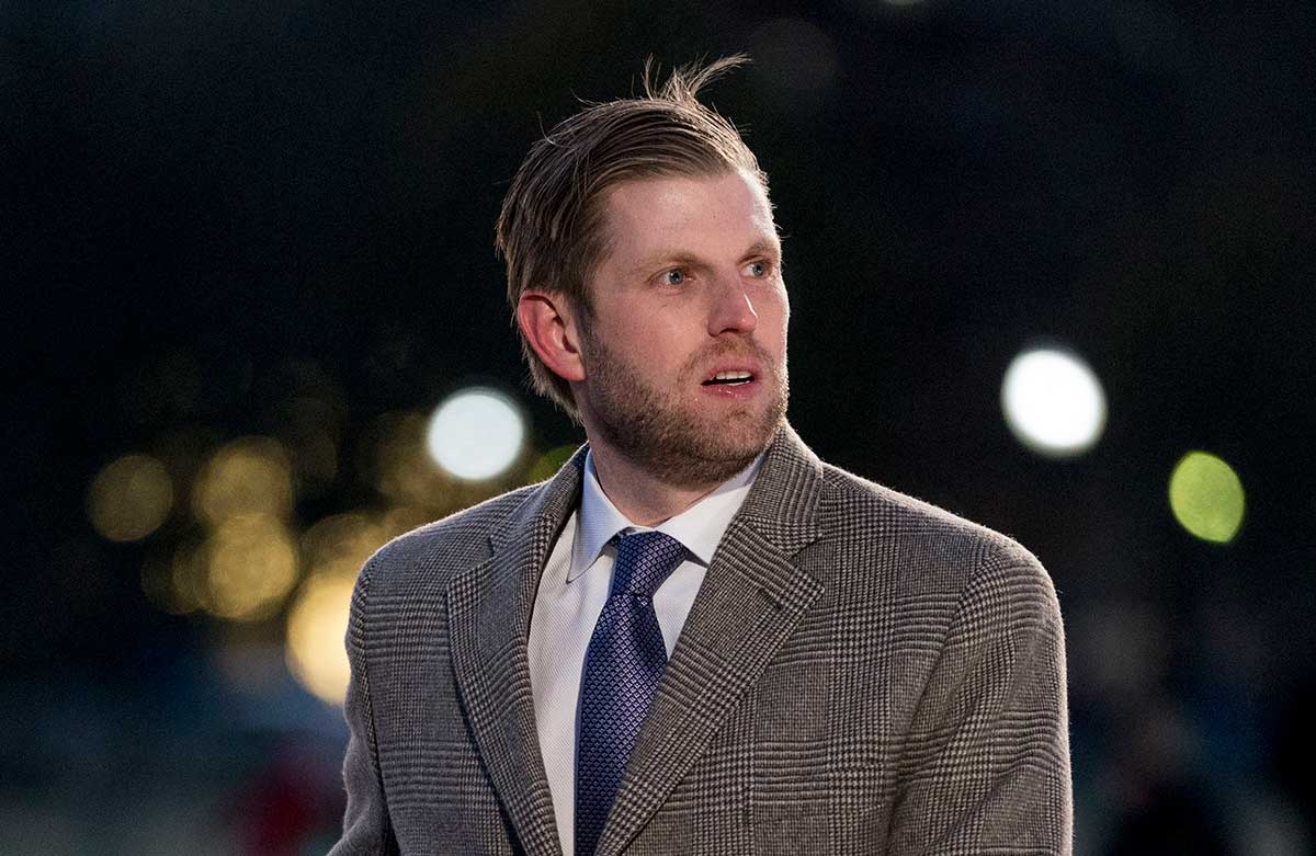 Eric Trump at the National Christmas Tree lighting ceremony near the White House on Nov. 28, 2018.
