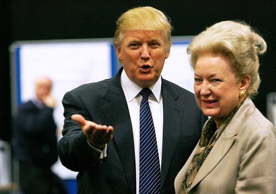 Maryanne Trump Barry, in 2008 with her brother Donald Trump