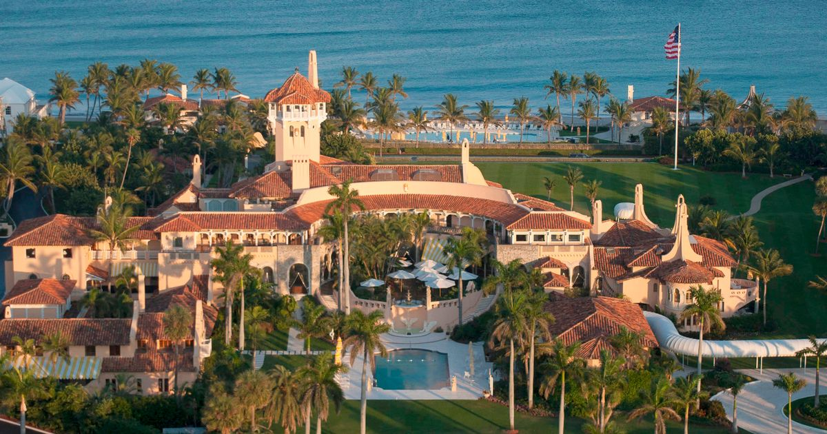Aerial view of Mar-a-Lago, the oceanfront estate of billionaire Donald Trump in Palm Beach
